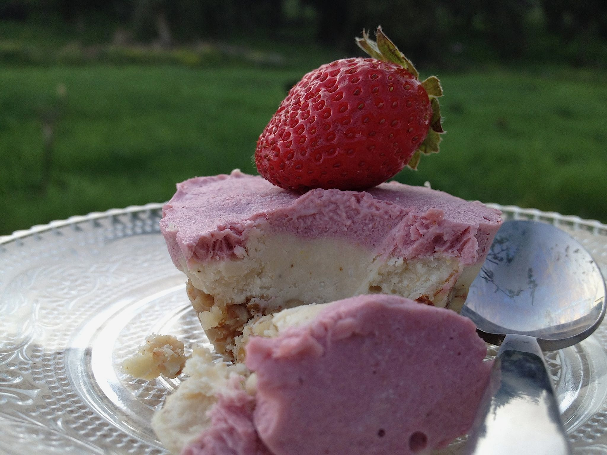 Spring Strawberry Cashew Mousse