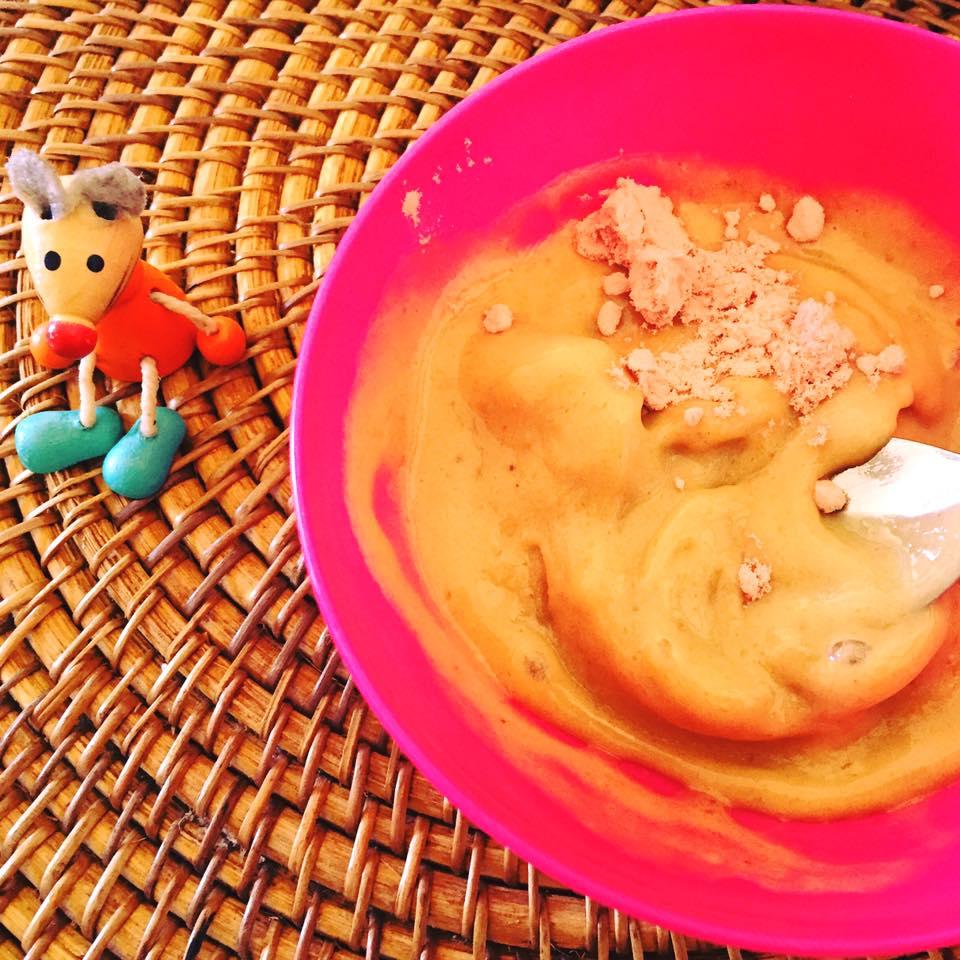 Banana Pomegranate Ice cream